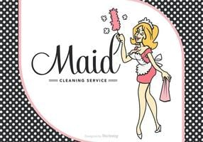 Gratis Vector Cartoon Franse Maid