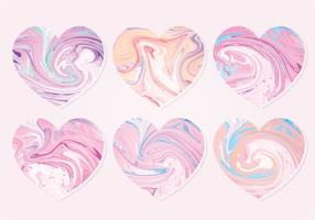 Vector Marble Hearts Collection