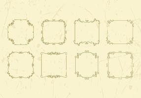 Freier dekorativer Weinlese-Rahmen-Vektor