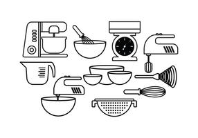Gratis Baking Set Vector