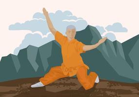 Hombre haciendo Wushu
