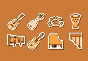Free Music Insrument Pegatinas Vector