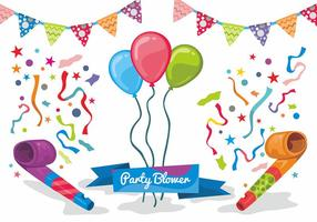 Party Blower Vector Design