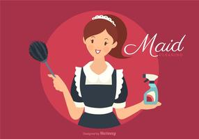 Vector Retro French Maid