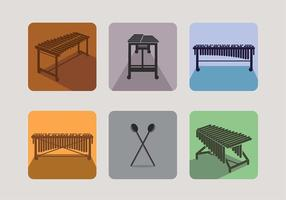 Marimba icon vector free