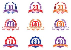 Anniversaire Celebration Emblems