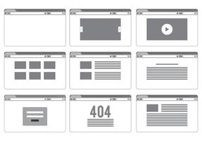 Blank Site Page Templates  vector