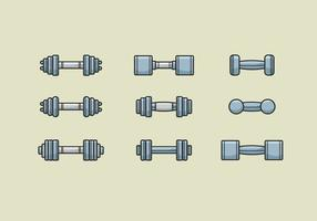 Dumbell Vectors Icons