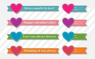 Valentine's day vector ribbons