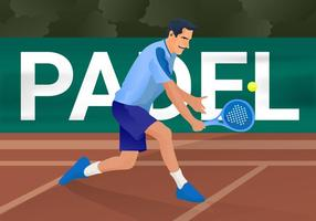 Gratis Padel Vector Illustration