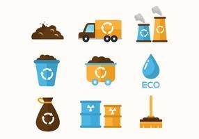Ícones grátis do vetor de lixo