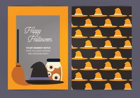 Carte Halloween Vecteur