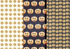 Patrones de vectores de Halloween