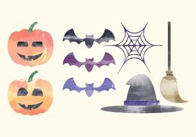 Vector elementi acquerello di Halloween
