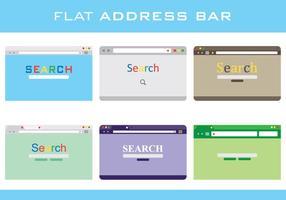 Flat Address Bar