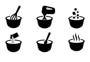 Free Mixing Bowl Icons Vektor