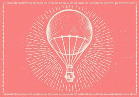 Free Hand Drawn Hot Air Balloon Vector Background