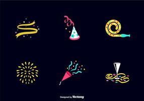 Free Party Favors Iconos Vectoriales