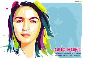 Alia Baht - Bollywood Life - Ritratto di Pop Art