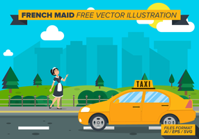 Fransk Maid Free Vector Illustration