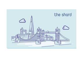 The Shard lineart  vector