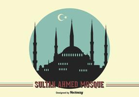 Gratis Vector Sultan Ahmed Moskee Achtergrond