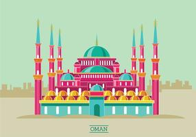 Historic Sultan Ahmet Mosque Vector Illustration
