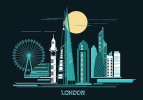 Vektorillustration Shard och London Skylane