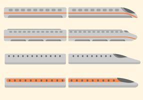 Vetor de trem de bala grátis