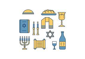 Vector libre de Shabbat