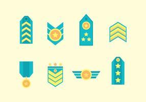 Vecteur de badge militaire gratuit