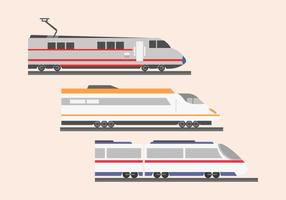 High speed rail TGV city train illustration flat color
