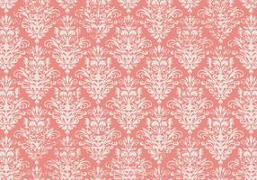 Pink Grunge Damask Background