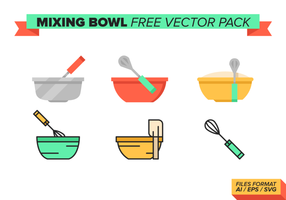 Bol mélangeur pack vectoriel gratuit