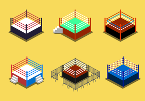 Gratis Wrestling Ring Vector