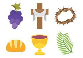 Gratuit vecteur icône de la semaine sainte