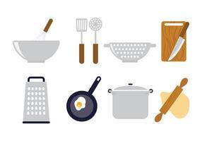 Iconos de cocción de vectores