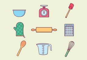 Gratis Baking Tools Vector