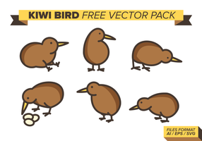 Kiwi Vogel Free Vector Pack