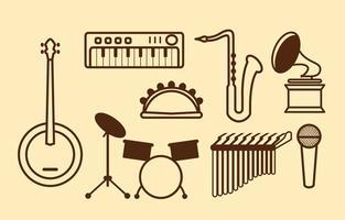 Icône de vecteur de musique gratuit
