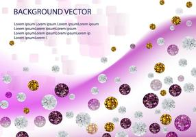 Vecteur de fond de diamant en strass