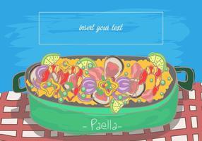 Paella cuisine espagnole