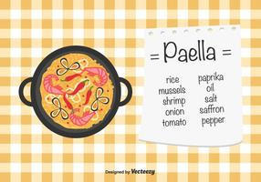 Paella Vektor Hintergrund