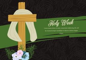 Holy Week Palm Background vector