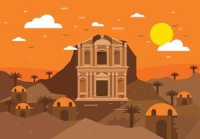 Petra Landscape Vector