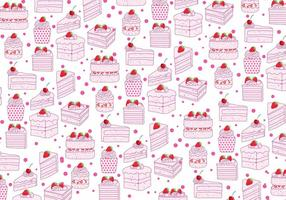 Aardbeien Shortcake Patroon Vector