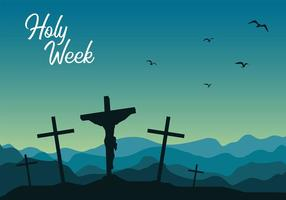 Holy Week Night Free Vector