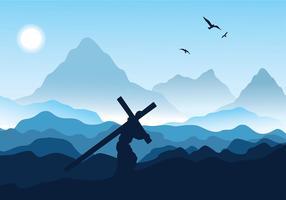 Día de la Semana Santa Vector Libre