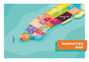 Carte manhattan vecteur gratuit