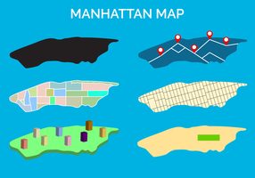 Gratis Manhattan Map Vector